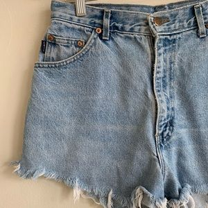Vintage Shorts - Vintage 90's Denim High Waist Cutoff Jena Shorts